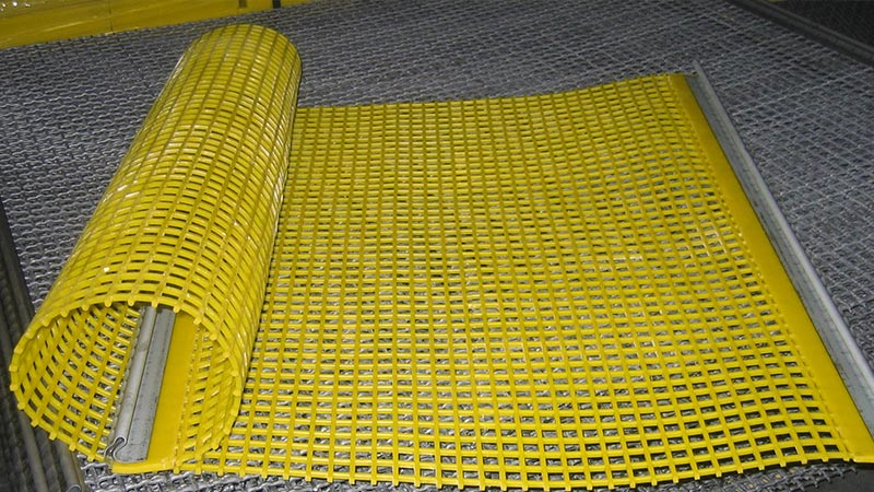 mines, quarries, grilles permatech, metal grilles, steel, anti-clogging, polyurethane, rubber, france, rhone alpes